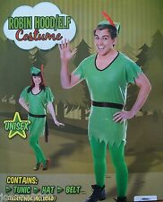 Mens Womens Robin Hood Elf Peter Pan Pixie Christmas Fancy Dress Costume Outfit
