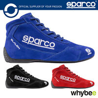 001264 Sparco Slalom RB-3.1 Racing Boots Suede Leather FIA Motorsport Race Rally