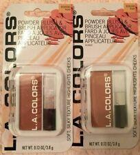 2 x New L.A. Colors Powder Blush & Brush Applicator - Toast Bsb330 - Lot Of 2