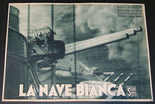fotobusta film LA NAVE BIANCA Roberto Rossellini -Francesco De Robertis 1941 WW2