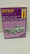 DATSUN CHERRY N10 WORKSHOP MANUAL NEW UNUSED AND SEALED 1979-1982