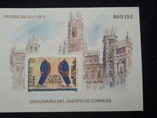 PRUEBA OFICIAL Nº 18 CENTENARIO CUERPO CORREOS 1988