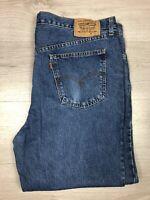 Vintage Levi's 630 Men's Straight Leg Denim Jeans Orange Tab Size W44 L32 VGC
