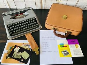 1954 Hermes Rocket Typewriter with Case And Manuals