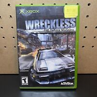Original Xbox Wreckless The Yakuza Missions - Complete W/ Manual CIB & Tested