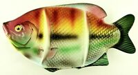 Vintage Fish Shaped Ceramic Divided Serving Dish Platter Rainbow Trout Japan