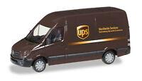 UPS MERCEDES SPRINTER VAN TRUCK HERPA 1/87 Plastic Minature HO Scale