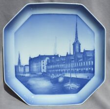 BING & GRONDAHL Octagonal Plate 1934-1935 Copenhagen Borsen (Stock Exchange)