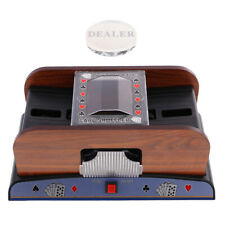 Automatic Poker Casino 2 Deck Card Shuffler for Card Game Players w/ Dealer