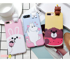 Cute 3D cartoon Moomin line friends BROWN cony case Cover for iPhone 7 6 6S Plus