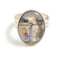 Alicia en el país de las maravillas Anillo Humpty Dumpty Cuento de Hadas plata ajustable cuento de hadas