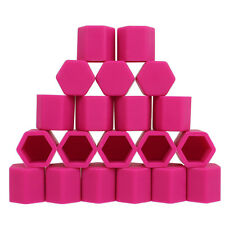 20pcs Pink 21mm Silicone Wheel Lugs Nuts Bolt Covers Hub Screw DUST Cover Cap