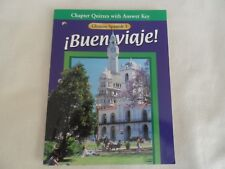 Buenviaje! Chapter Quizzes and Answer Key - Glencoe Spanish 3
