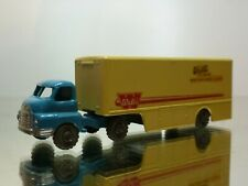 LESNEY 2 BEDFORD TRUCK + ARTICULATED TRAILER  - BLUE + CREAM - GOOD CONDITION