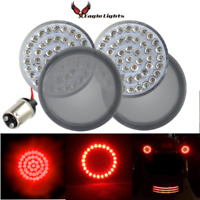 "Eagle Lights 2"" Rear Harley LED Turn Signals 1157 Dual Contact w/ Smoked Lenses"