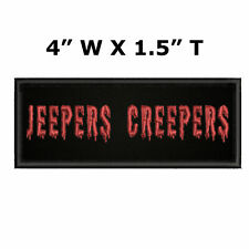"""Jeepers Creepers Horror Movie 4"""" x 1.5"""" Embroidered Iron/Sew-on Patch Applique"""