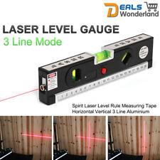Laser Spirit Level Rule Measuring Tape Aluminium Horizontal Vertical 3 Line