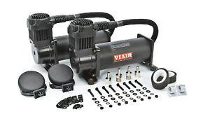 VIAIR Dual 444C Stealth Black Air Compressors Kit for Train Horns - 12V, 200 PSI