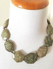 """New Jay King Large Agate Sterling Silver Green Necklace 18"""" HSN beautiful!"""