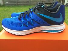 New Genuine Men's Nike Zoom Winflo 3 Running Trainers Blue Uk 9 Eur 44 Gym