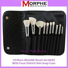 ❤️⭐NEW Morphe Brushes 😍🔥👍 DELUXE 🎨💋 10-Piece Set w/Ostrich Skin Case 💎 692