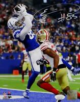 Eric Ebron Autographed Indy Colts 8x10 PF Photo Catching TD- JSA W Auth *White
