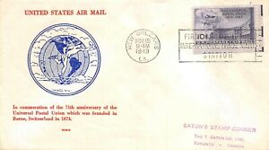 C43 15c Globes & Doves, W.M. Grandy cachet in red (text) and blue [080221.251]