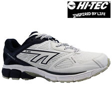 HI-TEC R200 Mens White Blue Running Road Gym Sports Shoes Trainers PUMPS UK 7