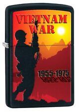 Zippo Lighter: Vietnam War 1955-1975 - Black Matte 77304