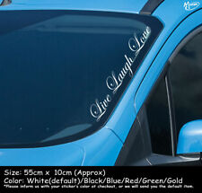 LIVE LAUGH LOVE Reflective Funny Car Windscreen Sticker Decal Best Gift-