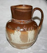 "RARE ANTIQUE DOULTON 1887 QUEEN VICTORIA GOLDEN JUBILEE 7 1/4"" SALT GLAZED JUG"