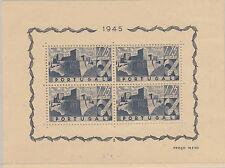 PORTUGAL: 1945 Portuguese Castles miniature sheet SG MS996a mint
