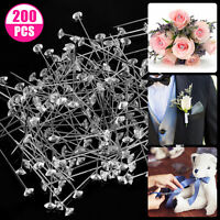 200pcs Acrylic Diamond Pins Natural Vintage Brooch for Bouquet Wedding Flower