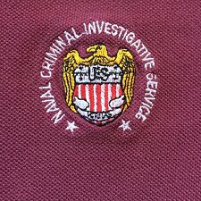 NCIS NIS Naval Criminal Investigative Service RED POLO SHIRT Embroidered Crest