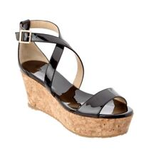 JIMMY CHOO Jimmy Choo Portia 70 Patent Cork Wedge Sandal