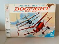 1962 MILTON BRADLEY AMERICAN HERITAGE DOGFIGHT BOARD GAME # 4302
