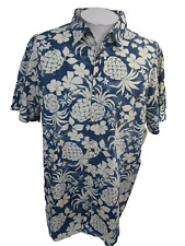 "Island Shores Men Hawaiian ALOHA shirt p2p 28"" XXL tropical floral camp luau"