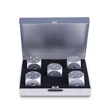 5pcs Aluminum Engraved Solid Metal Dice W/ Square Case GIFT SOUVENIR Party Game
