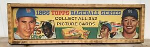 Vintage Style 1956 Topps Baseball Card Wood Advertising Sign 6x24