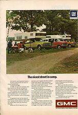 Original 1971 GMC Camper Magazine Ad - Nicest Street in Camp