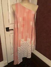 Anthropologie MAEVE Silk One Shoulder Dress Sz 8