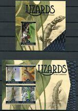 St. Vincent 2011 Eidechsen Lizards Reptilien 7047-50 + Bl.722 ** MNH