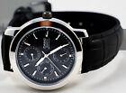 Casio MTP-1192E-1AD Men's Analog Watch Black Leather Band 3 Dials Dress New