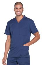 Dickies Men's Short Sleeve Side Vents Chest Patch Pocket V-Neck Scrub Top. Dk640