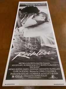 """RECKLESS LOT OF 5(1984) DARYL HANNA ORIGINAL INSERT POSTER 14""""by36"""" NICE!"""
