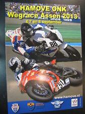 Programma Hamove ONK Wegrace Assen 6, 7 en 8 september 2013