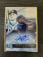 2020 Topps Gold Label MIKE MICHAEL BROSSEAU GOLD METAL FRAME AUTO RC Rays