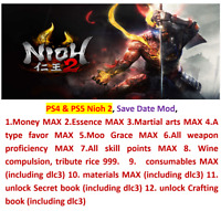PS4 & PS5 Nioh 2 Save Data mod!!!