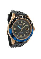 Breil Milano Men's Manta BW0401 Black Rose Gold Tone Analog Date Resin Watch