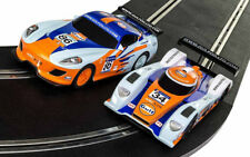 SCALEXTRIC Slot Cars 2x Gulf Racing Cars, LMP 34 & GT 86